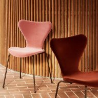 Competition: win a velvet-upholstered Series 7 chair by Fritz Hansen