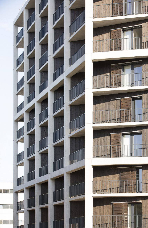Student housing block by Atelier Villemard et Associés (AVA) in Champs-sur-Marne