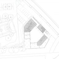 Typical floor plan of Student housing block by Atelier Villemard et Associés (AVA) in Champs-sur-Marne