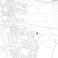 Site plan of Student housing block by Atelier Villemard et Associés (AVA) in Champs-sur-Marne