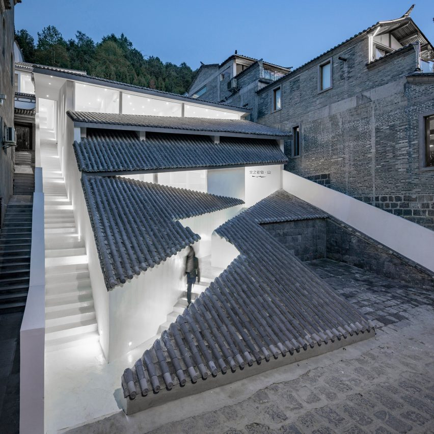 Dezeen's top 10 Chinese architecture projects of 2019: Annso Hill Hotel, Tengchong City, by Studio QI