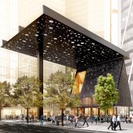 David Adjaye designs Sydney Plaza canopy to evoke Aboriginal paintings