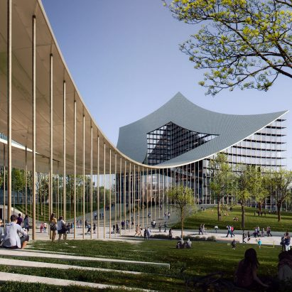 The Portico for CityLife in Milan by BIG