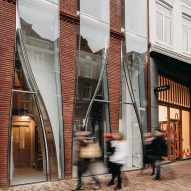UNStudio mimics textiles with glass for facade of Amsterdam store