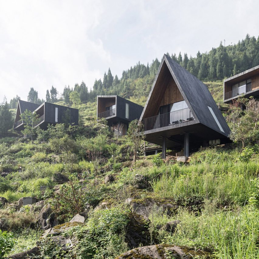 Dezeen's top 10 Chinese architecture projects of 2019: Woodhouse Hotel, Tuanjie, by ZJJZ Atelier