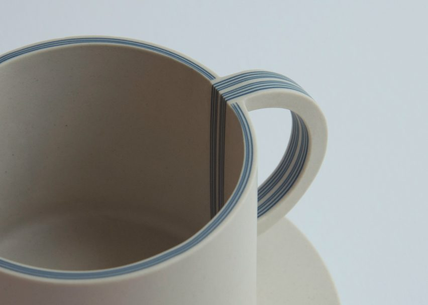 Yuting Chang turns blue-and-white porcelain inside out to make tableware