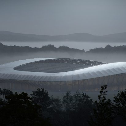 Forest Green Rovers world's first timber stadium by Zaha Hadid Architects