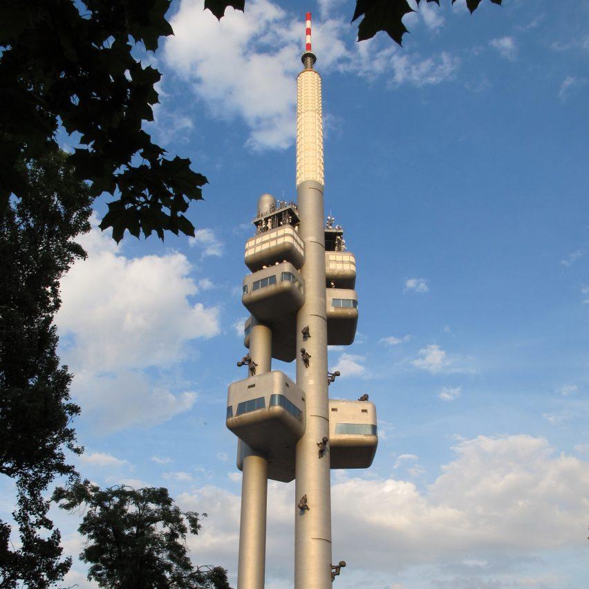 Žižkov Television Tower by Václav Aulický and Jiří Kozák
