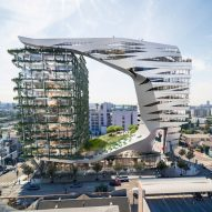 Morphosis unveils contrasting towers for Viper Room nightclub site in Los Angeles