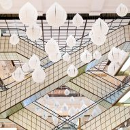 Nendo combines rain and flowers for installation at Le Bon Marché in Paris