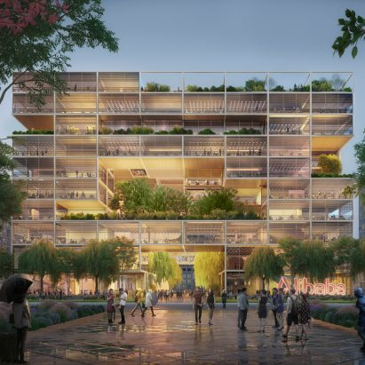 Alibaba Shanghai headquarters proposal by Foster + Partners