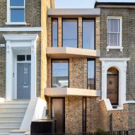 Skinny house built in gap for Victorian coach house in London