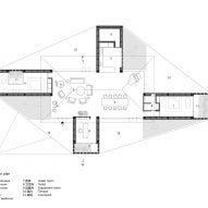 Floor plan of Courtyard Villa by Arch Studio