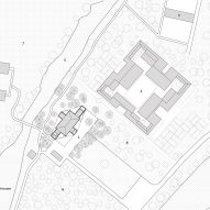 Site plan of Courtyard Villa by Arch Studio