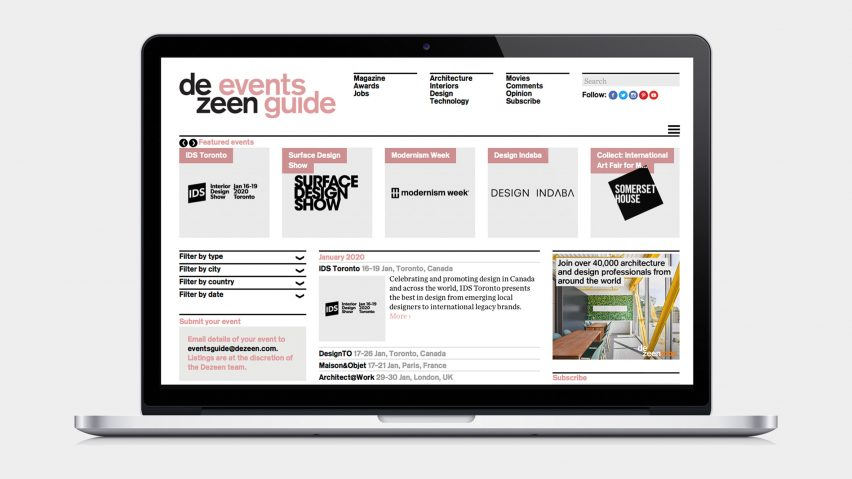 Dezeen Events Guide
