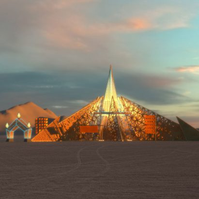 Empyrean Burning Man by Laurence Verbeck and Sylvia Adrienne Lisse