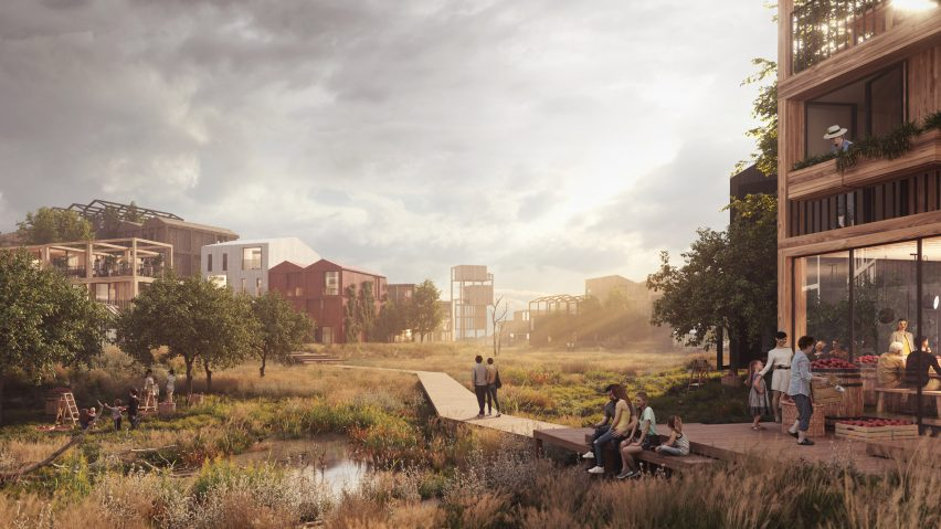 Fælledby housing by Henning Larsen