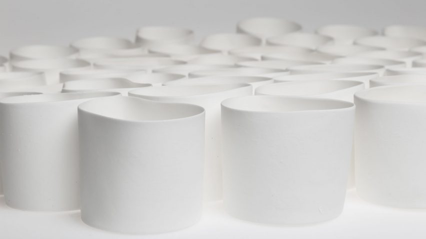 Gregg Moore makes restaurant's tableware with waste bones from kitchen