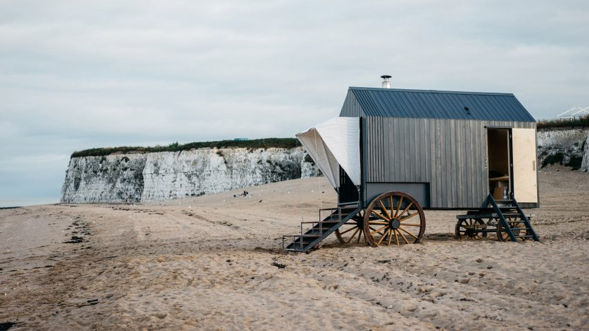 Victorian bathing machine by Haeckels