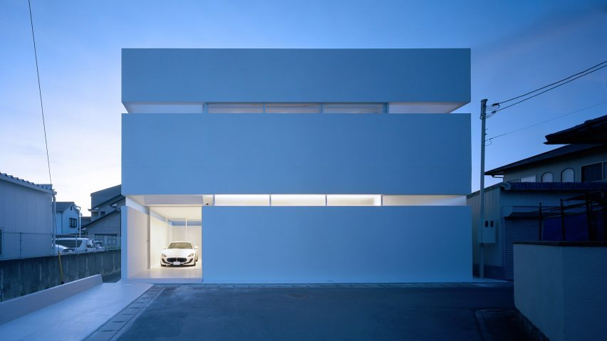 FujiwaraMuro Architects designs minimalist Japanese house to showcase owner's car