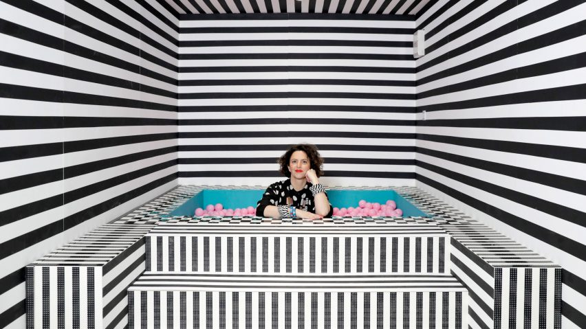 Camille Walala decorates House of Dots with over 2 million Lego pieces