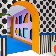 "Camille Walala decorates ""kids' dream house"" with more than two million Lego pieces"