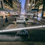 """Lateral Office lights up New York City Garment District with """"immersive urban instrument"""""""