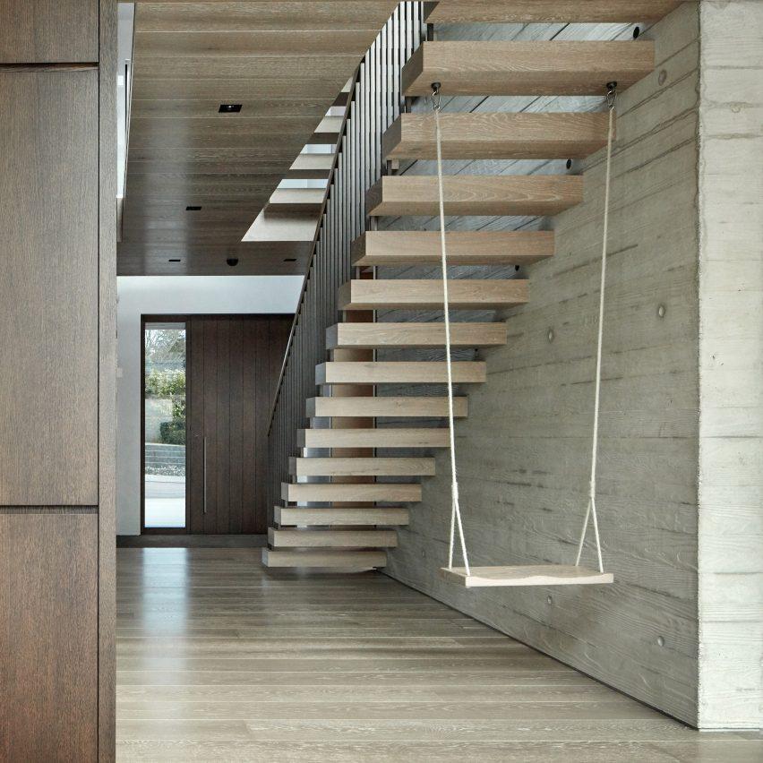 Dezeen S Top 10 Staircases Of 2020, Outdoor Wooden Handrails For Concrete Steps Uk