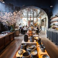 Roman and Williams Guild New York boasts flower shop, boutique and French cafe La Mercerie