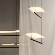 Antoni Arola illuminates pendant lamp with single LED strip for Santa & Cole