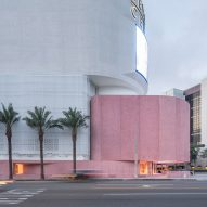 David Adjaye curves pink concrete around Los Angeles store The Webster