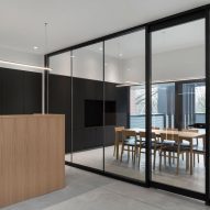Oak walls partition offices in Montreal law firm by Naturehumaine