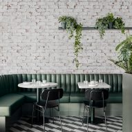 Biasol uses green tones for update of Melbourne's Main Street cafe