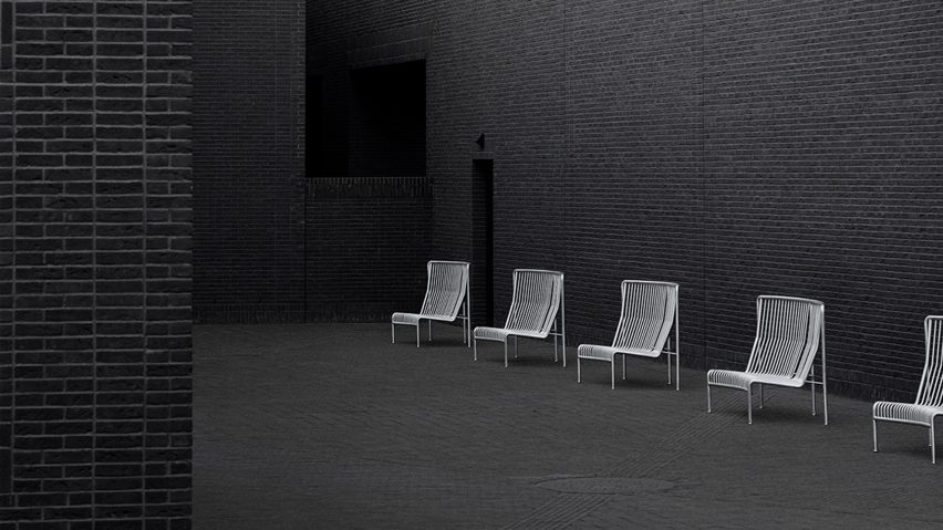 Roadie outdoor sofa is an homage to crowd control barriers