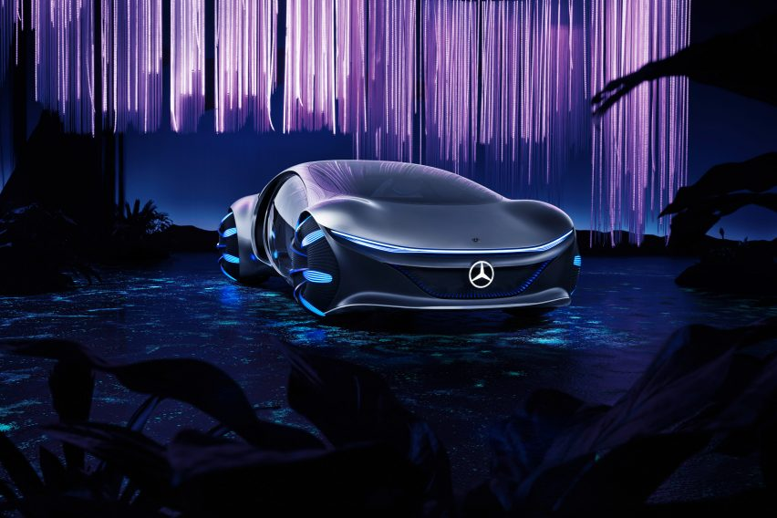 Mercedes Benz Unveils Avatar Inspired Concept Car At Ces 2020