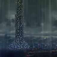 A Metallic Villadrone movie by Studio MK27 depicts metabolist future city