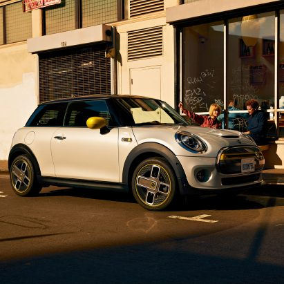 The MINI Cooper SE is the brand's first all-electric car, designed in the style of MINI's iconic Cooper range.