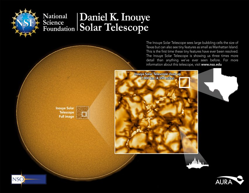 Inouye Solar Telescope takes most detailed images of the sun to date