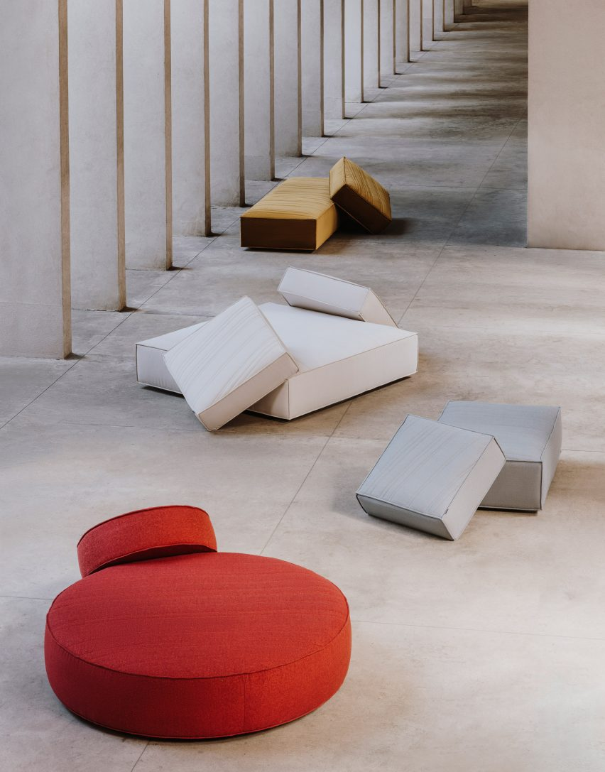 Sofas: Stack by Nendo for La Manufacture