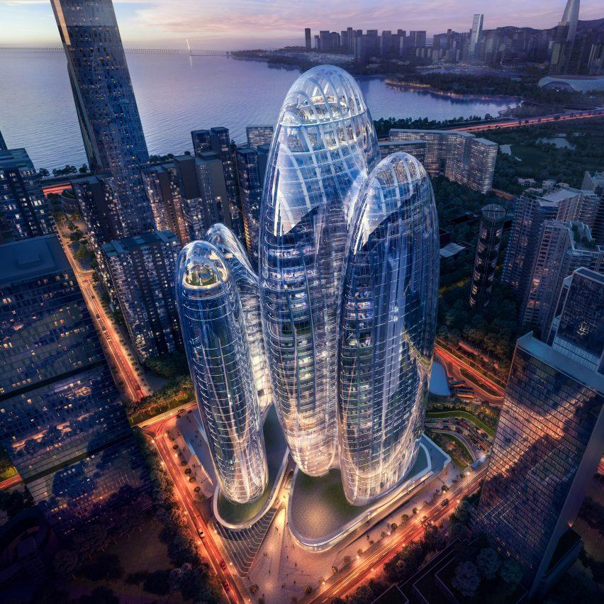 Zaha Hadid Architects releases visuals of amorphous OPPO Shenzhen headquarters