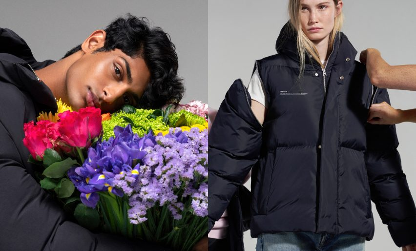 Pangaia's puffer jackets are filled with wildflowers rather than down