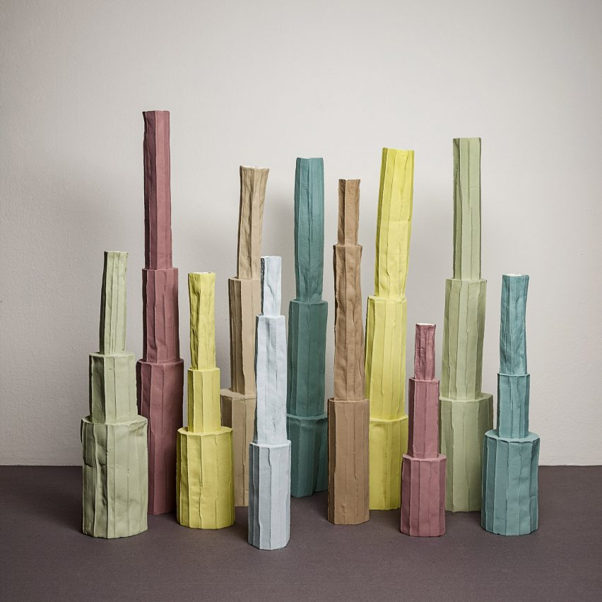 Pistilli paper clay ceramics by Paola Paronetto