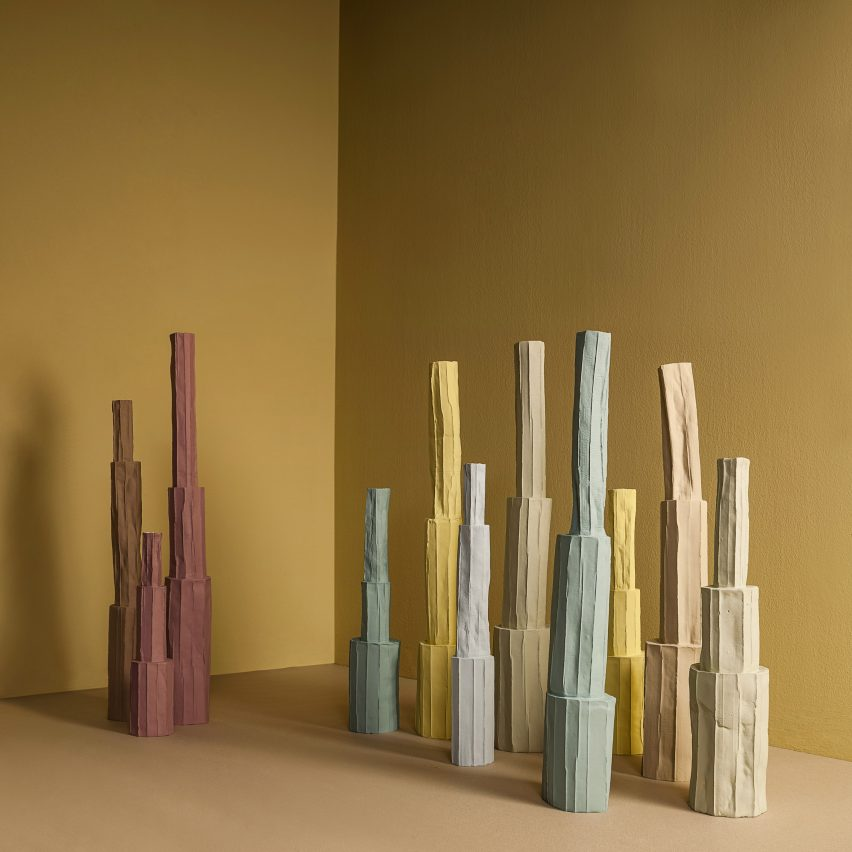 Paola Paronetto combines paper and clay to create delicate vessels