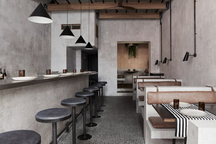 Paradise restaurant in London, designed by Dan Preston