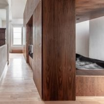The Tri-Pod bedroom for a throuple by Scott Whitby Studio