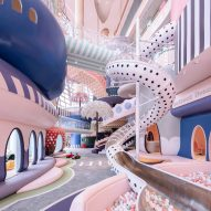 Pastel colours and polka-dots cover a fantastical miniature city for children in Shenzhen