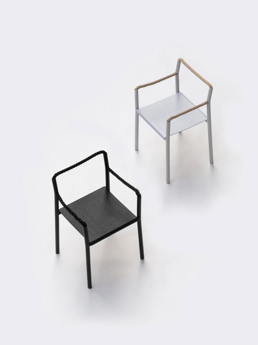 Bouroullec brothers create Rope Chair with one continuous piece of cord