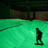 Glow-in-the-dark skatepark created inside Triennale Milano by Koo Jeong A