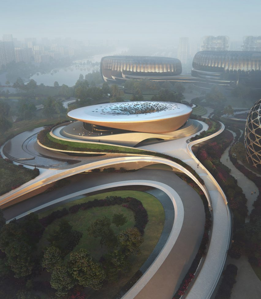 Unicorn Island masterplan by Zaha Hadid Architects