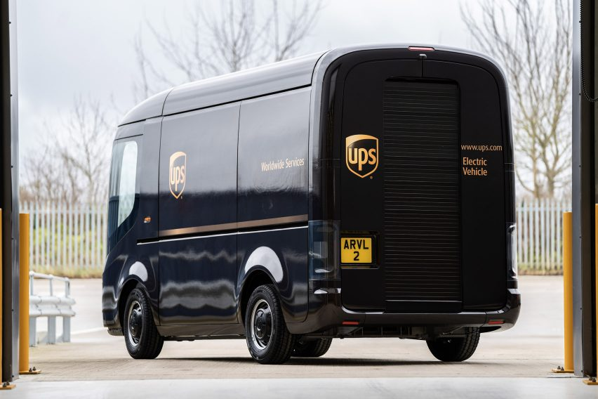 UPS vans by Arrival electric vehicles